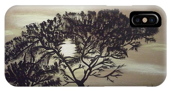 Black Silhouette Tree IPhone Case