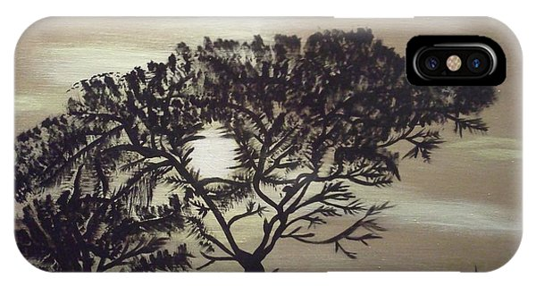 Black Silhouette Tree IPhone Case