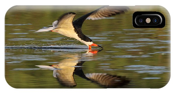 Black Skimmer Fishing IPhone Case
