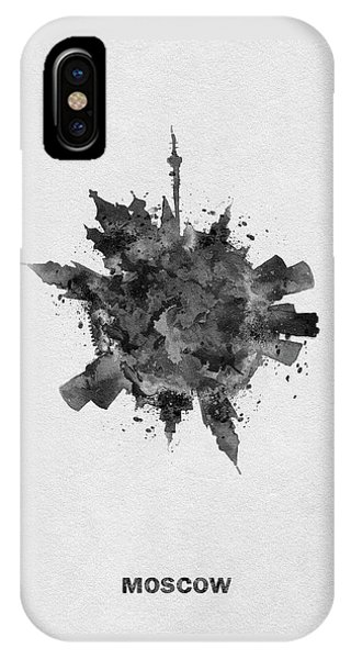 Black Skyround Art Of Moscow, Russia IPhone Case