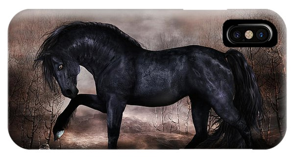 iPhone Case - Black Stallion by Shanina Conway