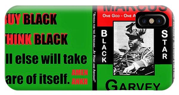 Black Star Garvey IPhone Case
