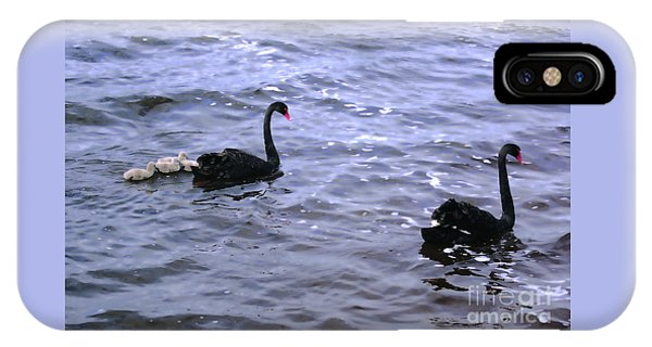 Black Swan Family IPhone Case