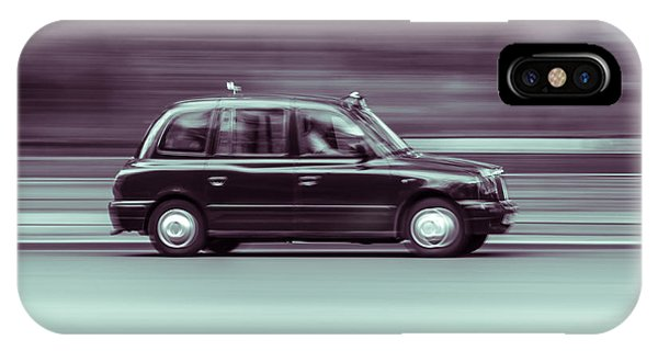 Black Taxi Bw Blur IPhone Case