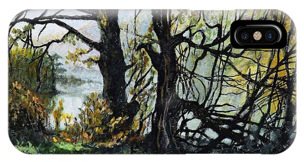 Growth iPhone Case - Black Trees Entanglement by Suzann Sines