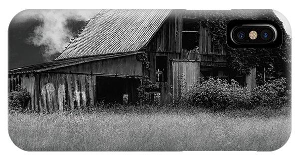 Black White Barn IPhone Case