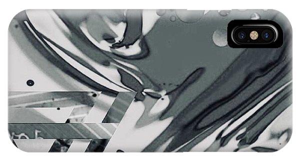 iPhone Case - black white GEL  Art by Jack Eadon