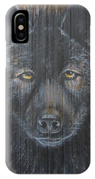 Black Wolf IPhone Case