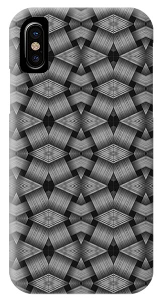 Black And Gray Geometric Pattern IPhone Case