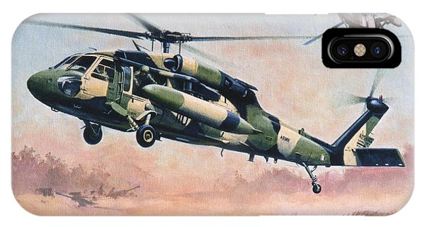 'blackhawk Manoevours' IPhone Case
