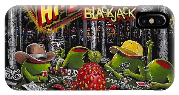 Martini iPhone Case - Blackjack Pimps by Michael Godard