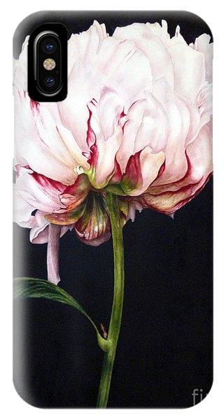 Peony On Black IPhone Case