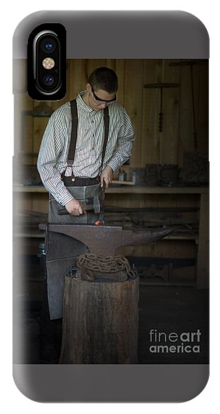 Blacksmith At Work IPhone Case