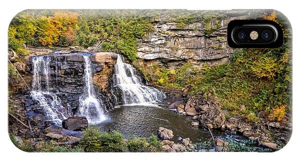 Blackwater Falls In Autumn3836c IPhone Case