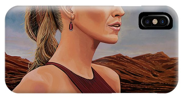 See iPhone Case - Blake Lively Painting by Paul Meijering