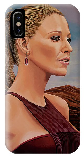 Blond iPhone Case - Blake Lively Painting by Paul Meijering