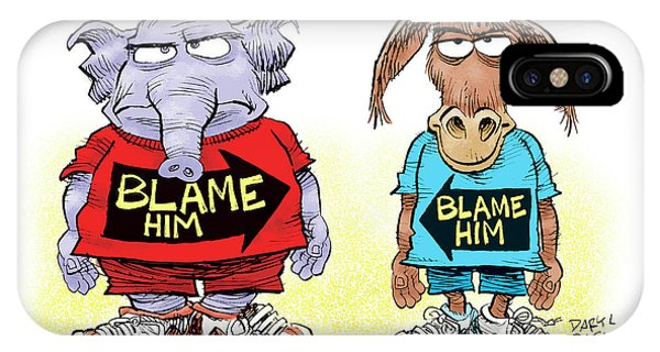 Blame Him IPhone Case