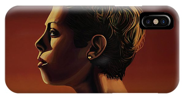 Silver And Gold iPhone Case - Blanka Vlasic Painting by Paul Meijering