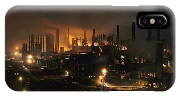 Blast Furnaces Of A Steel Mill Light IPhone Case