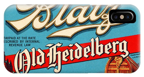 Rare iPhone Case - Blatz Old Heidelberg Vintage Beer Label Restored by Carsten Reisinger