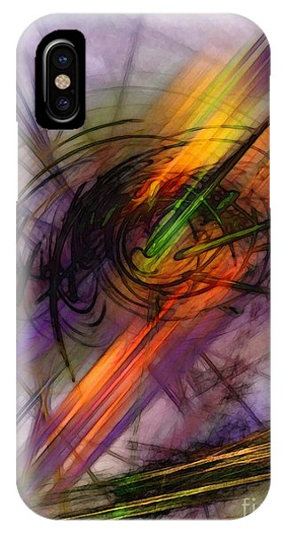 Blazing Abstract Art IPhone Case