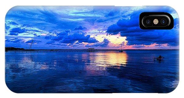 Blazing Blue Sunset IPhone Case