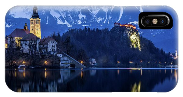 Bled Lake At Blue Hour Phone Case by Vyacheslav Isaev