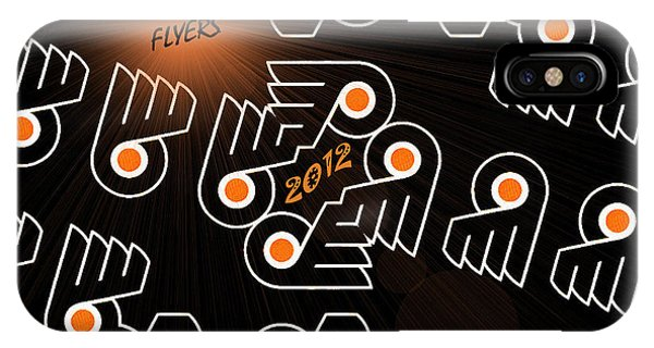 Bleeding Orange And Black - Flyers IPhone Case