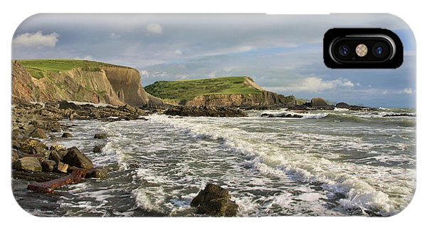 Blegberry Beach In North Devon IPhone Case