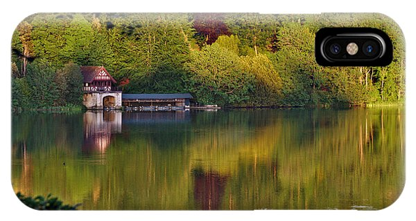 IPhone Case featuring the photograph Blenheim Palace Boathouse 2 by Jeremy Hayden