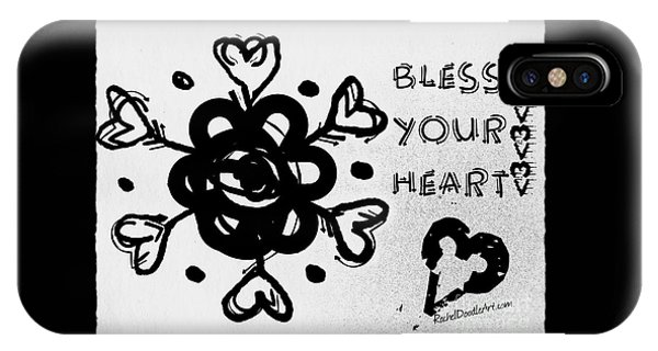 IPhone Case featuring the drawing Bless Your Heart by Rachel Maynard