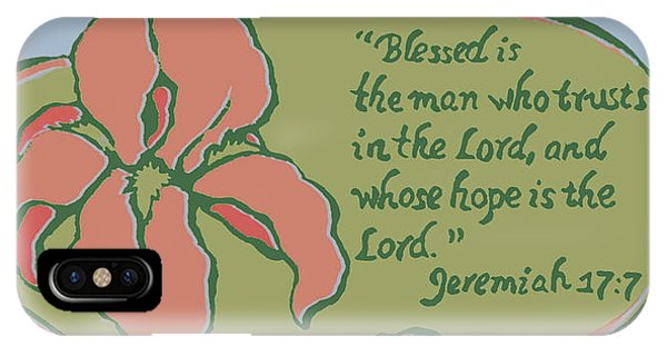 Blessed Is The Man IPhone Case