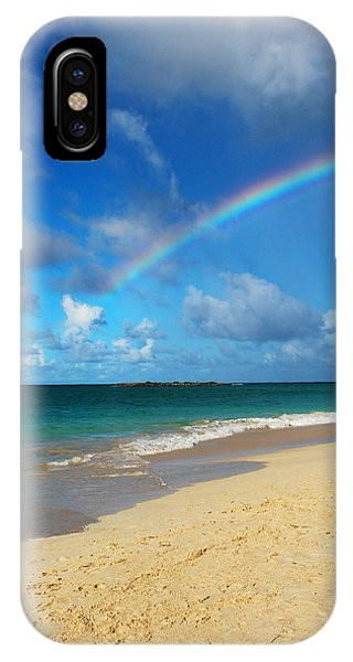 Oahu Hawaii iPhone Case - Blessed With A Rainbow by Kerri Ligatich