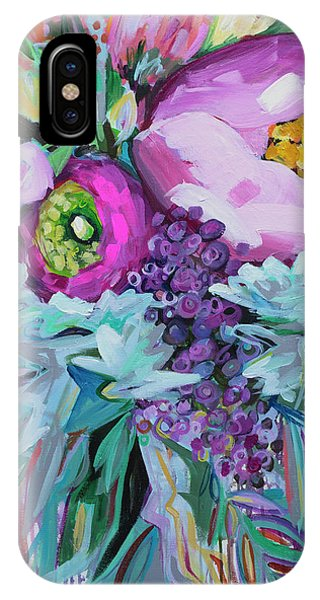 Pink Flower iPhone Case - Blessings Come From Raindrops by Kristin Whitney