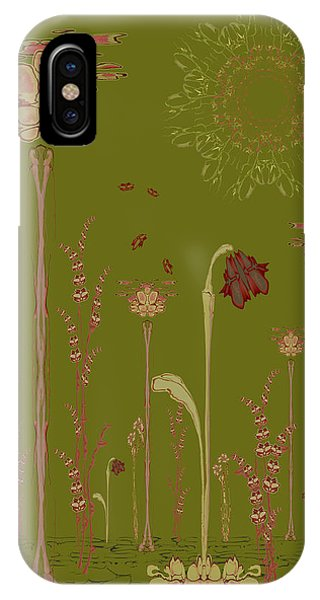 Blob Flower Garden Full View IPhone Case