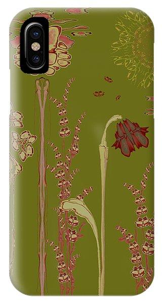 Blob Flower Garden IPhone Case