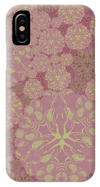 Blob Flower Painting #3 Pink IPhone Case