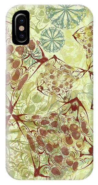 Blob Flower Painting #1 Pale Yellow IPhone Case