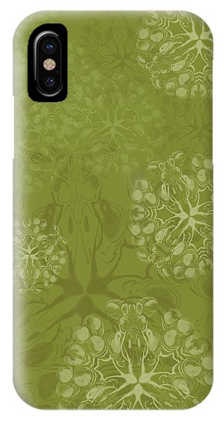 Blob Flower Painting #2 Yellow Green IPhone Case
