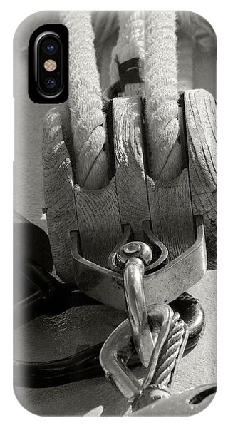 IPhone Case featuring the photograph Block And Tackle by Michael Kirk