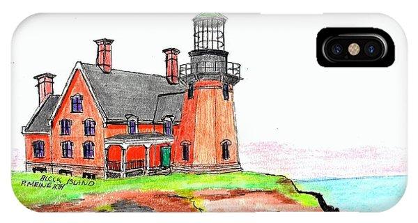 Block Island South Lighthouse IPhone Case