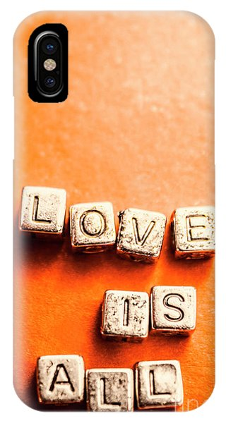 Romantic iPhone Case - Block Quotes On Love Is All  by Jorgo Photography - Wall Art Gallery