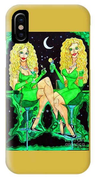 Blond Girls At Disco IPhone Case