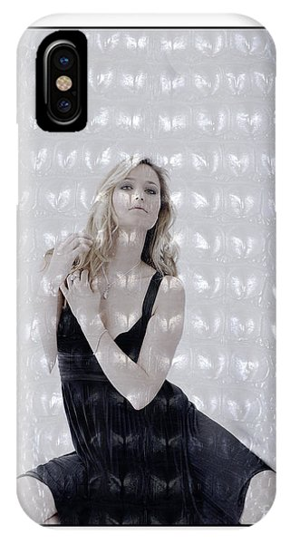 Blonde Girl Crouching IPhone Case
