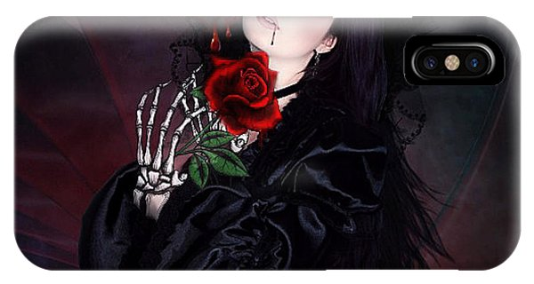 Gothic iPhone Case - Blood Like Poison 02 by G Berry