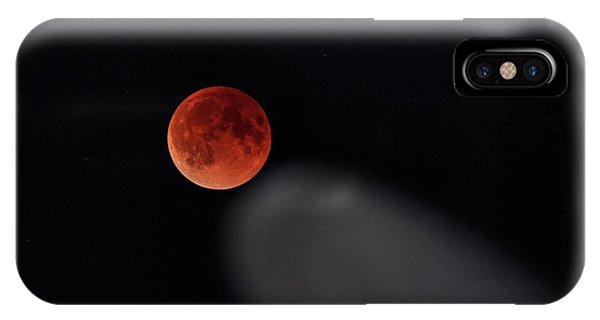 IPhone Case featuring the photograph Blood Moon Comet by Quality HDR Photography