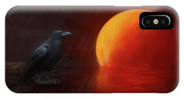 Blood Moon Crow IPhone Case
