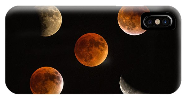 Blood Moon Eclipse Compilation IPhone Case