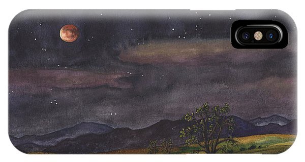 Dark Clouds iPhone Case - Blood Moon Over Boulder by Anne Gifford