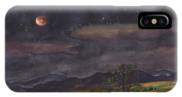 Rocky iPhone Case - Blood Moon Over Boulder by Anne Gifford